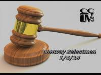 Conway Selectmen 1-5-16